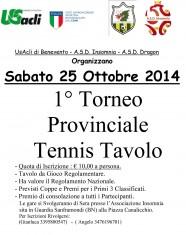 I Torneo tennis tavolo